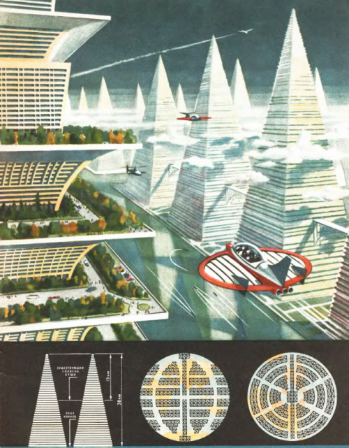 ppmj:  Futurism in Architecture and Urbanism, Russia, 1967