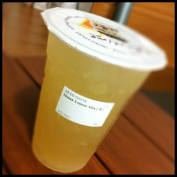 Honey Lemon Aloe at Cha Time (P80/medium)  + good mix of sweet and sour + aloe bits give a unique flavor and texture + refreshing! My favorite non-milk tea drink at cha time