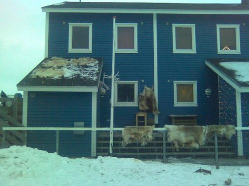 In Nuuk before Christmas, clearly a hunter's house.