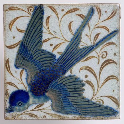 Tile  De Morgan, William Frend, born 1839 - died 1917