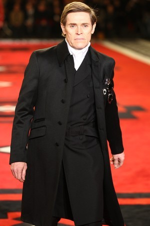 Willem Dafoe for Prada in Paris show.