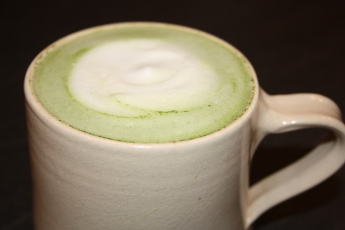 Matcha must be made from Sencha Green to taste like ground kimono, silky smooth  that settles on your lips, her milky sheen smells of kisses -puts you in the groove  adjectives retreat afraid of cliche but 'creamy' falls asleep on Matcha's chest so apposite the poet lets it stay - of all descriptions this suits Matcha best  Matcha's unimpressed by noise and drama disappears before you realise she's worked her milky magic, made you calmer  teased you with her inky almond eyes.   (from Distinguished Leaves, Poems for tea-lovers, by Elizabeth Darcy Jones)