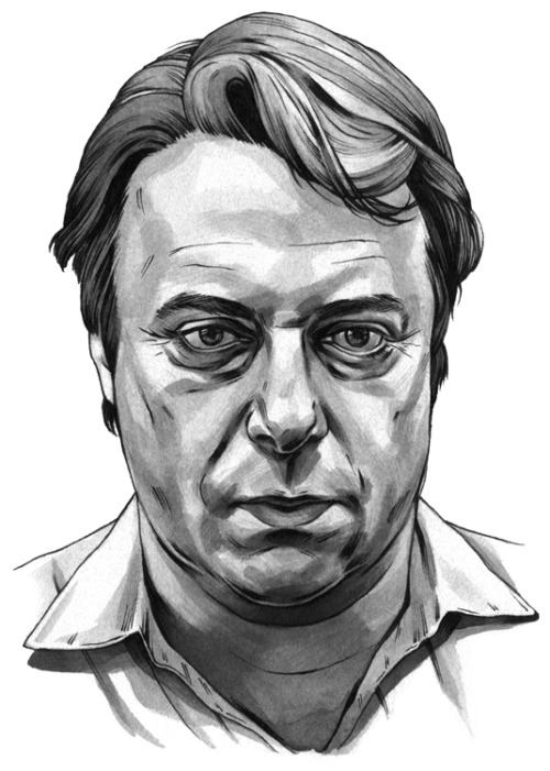 Christopher Hitchens for TIME Magazine, sumi ink and pen.