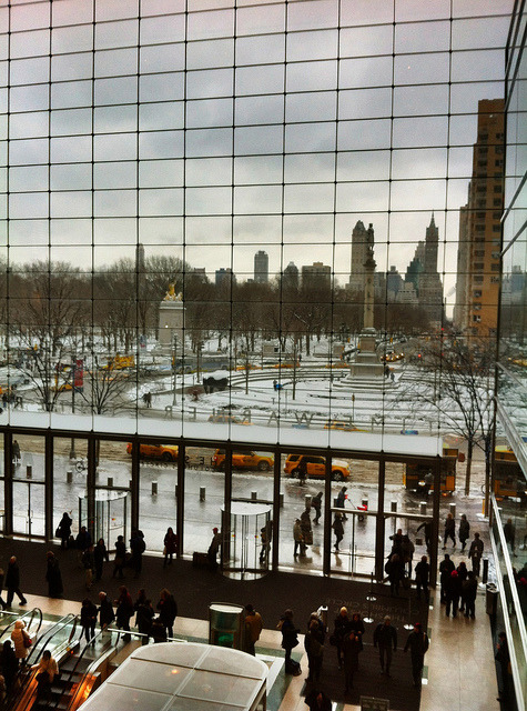 Time Warner Center: view of winter snow, NYC on Flickr.