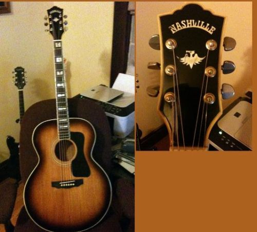"1978 Nashville Acoustic Guitar.  I've been in love with THIS guitar since I as 10 years old (note I said, THIS guitar, not a guitar ""like it"". What I mean is THIS EXACT GUITAR.)  Fast forward 33 years…Today, I own it."
