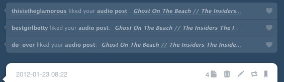 Oh man: 4 notes but only 3 whodunit bars. Someone's in hidden tumblr purgatory. Stop berating plugin developers and fix your shit, tumblr.
