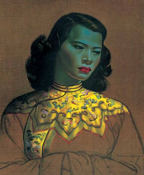 Chinese girl (green girl) by Vladimir Tretchikoff