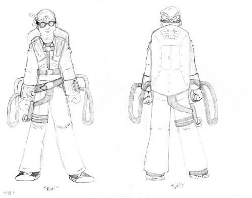 Beginning sketches of a turnaround for Kit - a character from my comic I'm working on