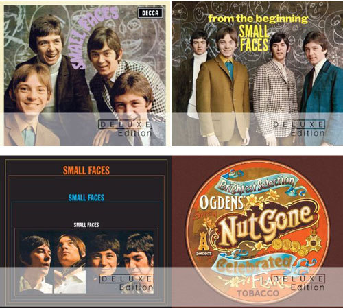 Small Faces Deluxe Editions Due In May Deluxe editions of Small Faces' four classic '60s studio albums will be released on May 7.  Small Faces (Decca, 1966), From The Beginning (Decca, 1967) and Small Faces (Immediate, 1967) will appear in two-disc format while their 1968 masterpiece, Ogdens' Nut Gone Flake, has been expanded to three discs. Each album has been remastered and will contain both the mono and stereo versions of the original tracks alongside a clutch of previously unreleased bonus material. MOJO's Mark Paytress provides the liner notes and there are new interviews with surviving members Ian McLagan and Kenney Jones. And just in case you'd forgotten how great this powerhouse of R&B, soul and psychedelia were, here they are tearing the place apart back in 1968: