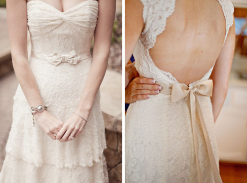 bowtiesandbliss:  (via 8 Ways to Rock a Bow on Your Big Day « Inspiration « Bow Ties & Bliss | One of a Kind Wedding Inspiration From the Pacific Northwest)