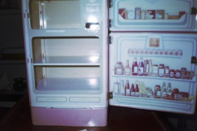 1950's toy fridge