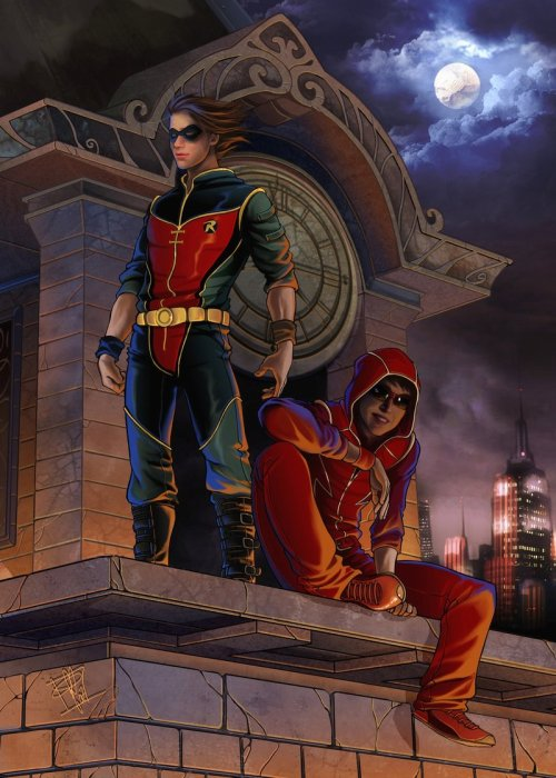 lulubonanza:  Flash and robin by *clefchan
