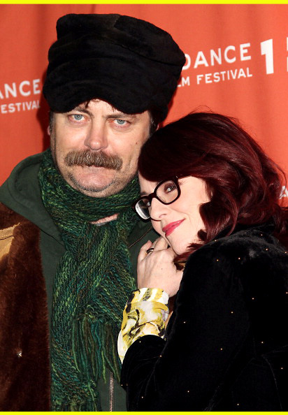 buzzfeed:  vh1:  Ron Swanson Heads North.  Also, how adorable are these two?! [Photo: Getty Images]  The party that ensued after this photograph was taken. One can only imagine.  If Ron Swanson and Tammy 2 can appear together at Sundance, Congress can #sittogether for one night.Via Newsweek.