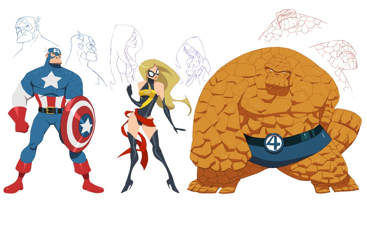 lulubonanza:  Marvel concept designs by ~greenestreet