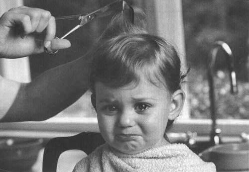 Reminds me a lot of my sister's first haircut too.