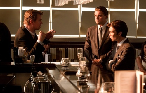 (via 'Dark Knight' Director Christopher Nolan Is 'Phenomenal,' Cillian Murphy Says - MTV Movie News| MTV) In an interview with MTV, Cillian Murphy (Batman Begins, Inception) talks about how great Christopher Nolan is and how excited he is to see the conclusion of Nolan's Batman trilogy, but doesn't confirm any rumors of him reprising his role as Scarecrow. He also talks about his short but significant role in Tron: Legacy, but like The Dark Knight Rises rumors he doesn't confirm any possible return to that franchise, simply stating he doesn't know. (Pictured above from left to right: Christopher Nolan, Leonardo DiCaprio, and Cillian Murphy on the set of Inception)
