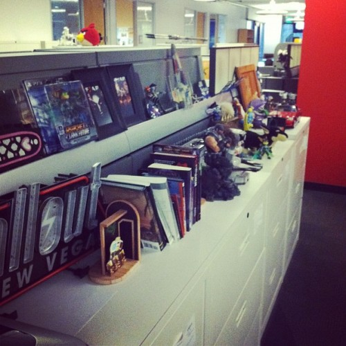Any given shelf at G4. via G4TV Instagram