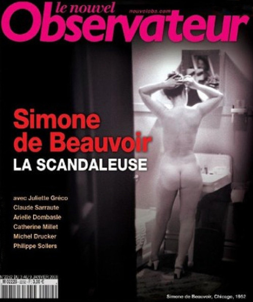 Simone de Beauvoir (1908-1986) The author of The Second Sex may be known as the mother of  French feminism, but that's just about the only maternal thing about  Simone de Beauvoir. Freed from the confinement of marriage by her  family's inability to provide a dowry, she rejected religion as a  teenager and eventually fell in with Jean-Paul Sartre's existentialist  crowd. He and Beauvoir maintained one of the most revolutionary  relationships of their time. Although she refused his marriage proposal  in 1931 and the couple never cohabited, they remained lovers and trusted  colleagues until his death five decades later. While each was the  other's primary partner, both were open about their affairs, and  sometimes they shared girlfriends. And if, for some reason, that isn't  enough to qualify Beauvoir as a bad girl, kindly recall that she also knew how to take a sexy photo. (From Flavorwire's 10 Legendary Bad Girls of Literature)