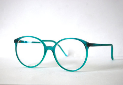 etsygoodies:  (via Nerd Retro Pro Design Turquoise Eyeglasses Denmark by spacejam)