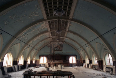 The Divine Lorraine, Ballroom in 2006, in the midst of being gutted; the marble floor was in the process of being pulled up