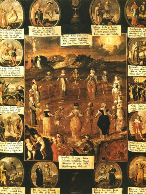 swearonyourhat:  Unknown painter, Danse macabre, 1670, Cracow.