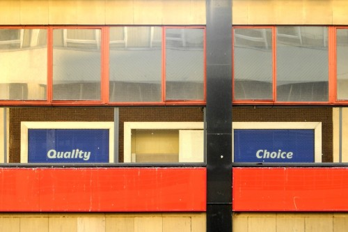 Quality and choice. Castle Market, Sheffield, 14/01/2012.