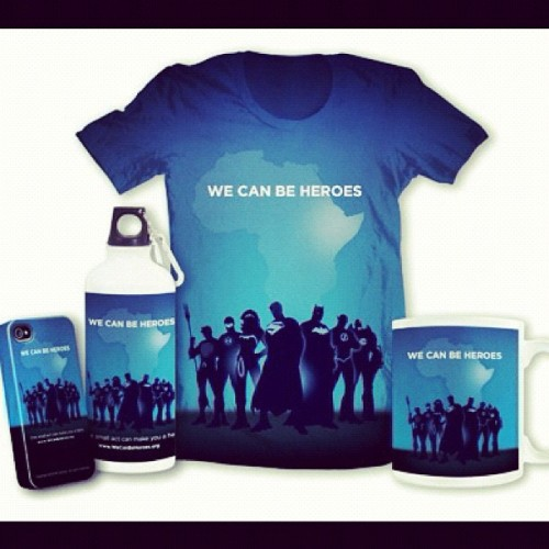 Join DC Comics in the fight against hunger I Africa. www.JoinWeCanBeHeroes.org  (Taken with instagram)