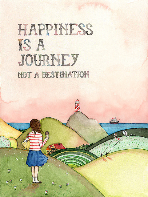 coffeepeople:  Happiness is a journey by {JooJoo} on Flickr.