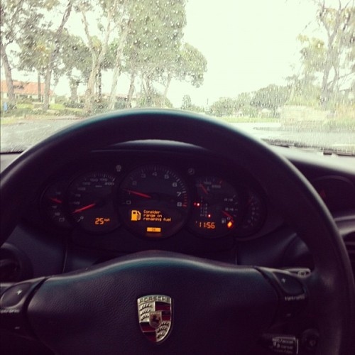 taking the Porsche for a drive in the rain (don't tell dad) #secret #agent #MK #porsche #Carrera #drive #drift #mash #gas #popular #rain #wetwet #pv  (Taken with instagram)