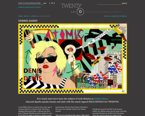 Twenty-6 Magazine, D Issue: Interview with Debbie Harry