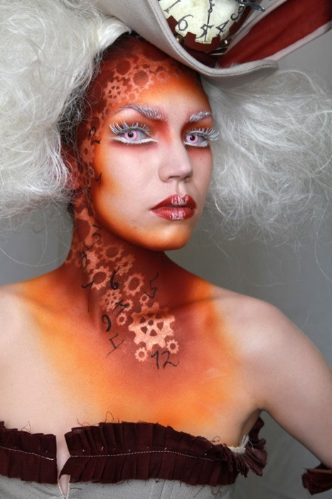 Insane airbrush makeup! :D it looks so sick!