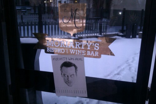 Moriarty has a bistro/wine bar? Well then… thats interesting #moriartywasreal  oni-queen:  I feel fufilled
