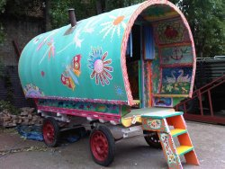 Handpainted Gypsy Caravan