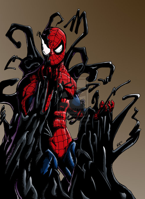 Even Spidey has trouble resisting the symbiote sometimes.