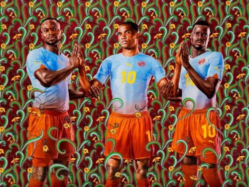 Portrait by Artist Kehinde Wiley commisioned by Puma