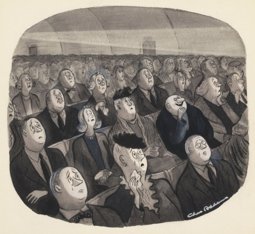 Charles Addams - New Yorker cartoon, March 23, 1946 [uncle fester] [***]