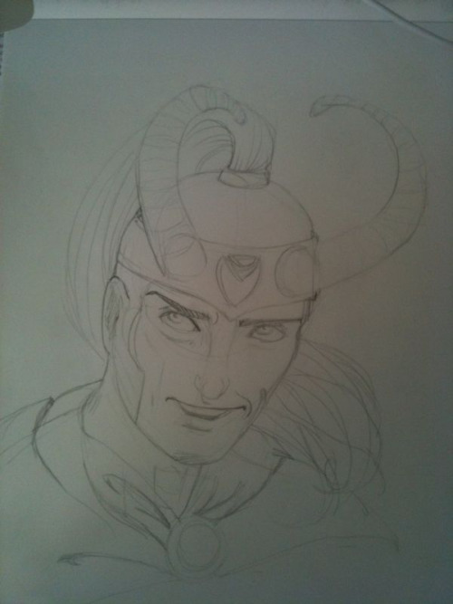 Desk sketch #68  Loki