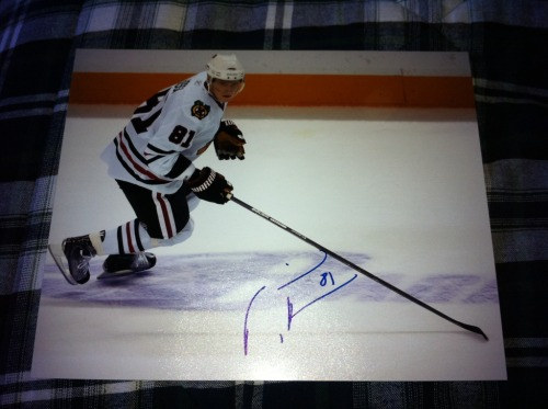 Signed Marian Hossa 8x10 In Person  $40