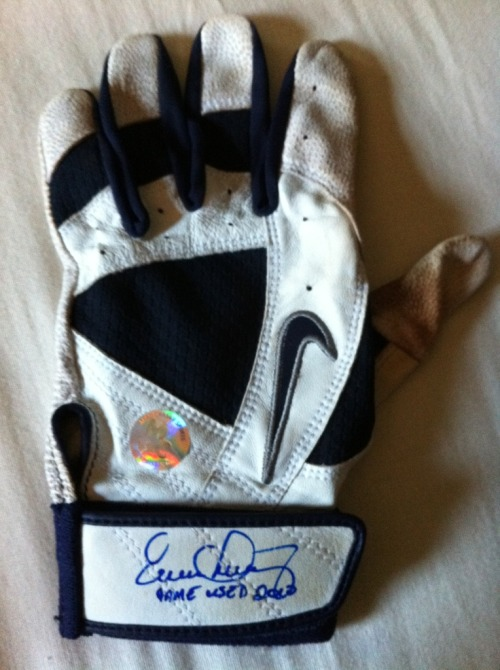 Evan Longoria Signed Game Used Batting Glove MC Sports COA.  $120