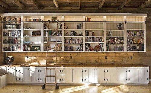 I have always dreamed of a rolling library ladder.
