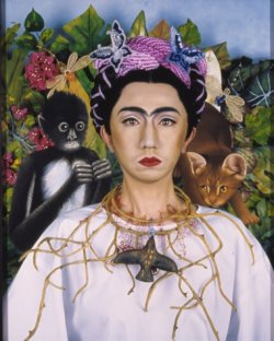 Another work from Japanese appropriation artist Yasumasa Morimura, titled An Inner Dialogue with Frida Kahlo (Collar of Thorns). (via SFMOMA)