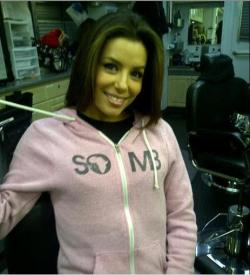 @EvaLongoria looking beautiful in #SOMB #PinkEcoHeatherHoodie