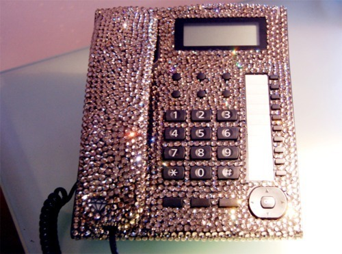 I wonder if I would be allowed to do this to my desk phone…
