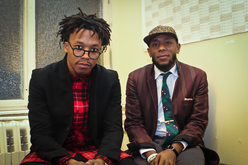 Lupe Fiasco & Mos Def Shot this backstage at the Vans OTW Launch Party in Berlin Jan 2012