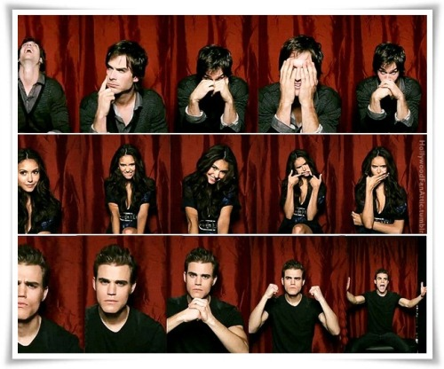 Photo fun with Ian, Nina, and Paul.