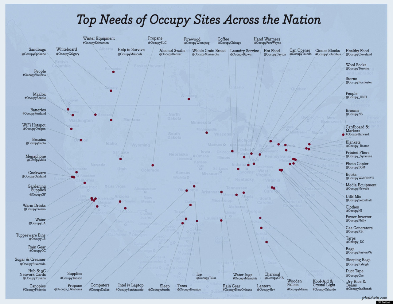 The Biggest Needs Of The 'Occupy' Demonstrators  The Occupy movement is in need. What that means, exactly, depends on where you look.