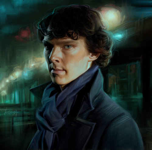 Sherlock. Benedict Cumberbatch by ~Olga-Orlando For my followers who spam my page with his show… That I've never even seen…