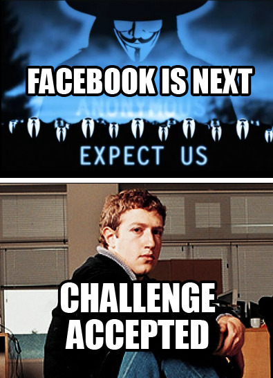 Will Anonymous attack Facebook?! CHALLENGE ACCEPTED!