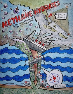 Information Illustration of Methane Hydrates and the Bermuda Triangle that I did last semester :)
