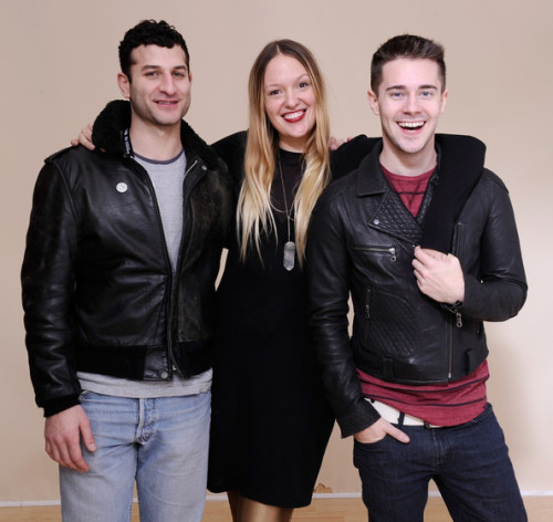 Chris Crocker (on the right) featured with his directors for his documentary 'Me At The Zoo' at the Sundance Film Festival